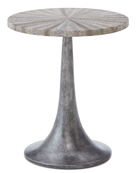 Falcor Snakeskin-Top Side Table