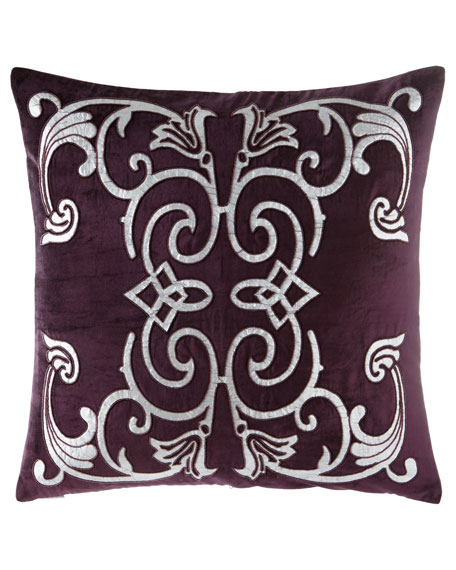 "Mozart Plum Pillow, 24""Sq."