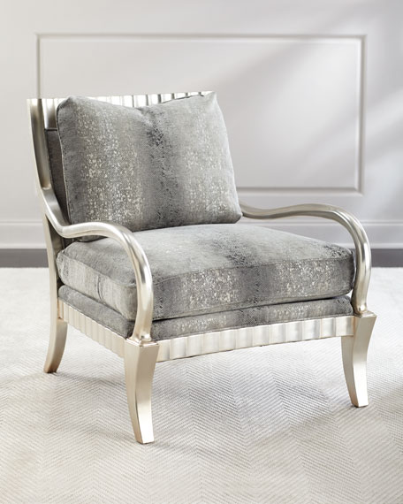 John-Richard Collection Clyde Python Print Lounge Chair