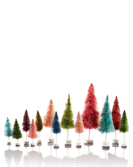 Pink Trees, Set of 6