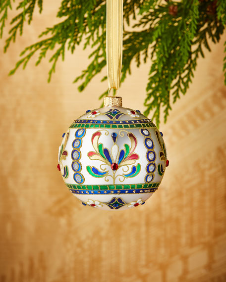 "4"" Matte Silvery Ornament"