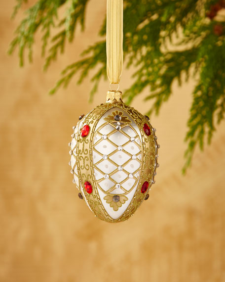 Matte Ivory Egg Ornament