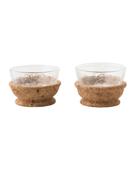 Quinta Hugo Natural Pinch Bowls, Set of 2