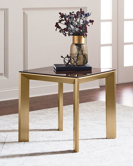 Bradshaw Brushed Brass Side Table