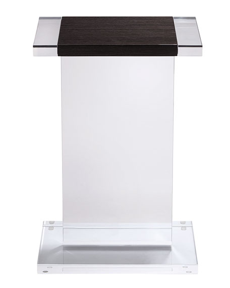 Waldo Rectangle Acrylic Side Table