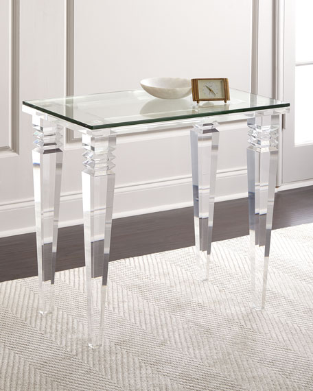 Interlude Home Christelle Acrylic Side Table