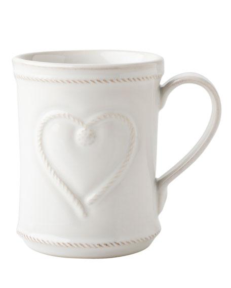 Berry & Thread Whitewash Cup Full of Love Mug