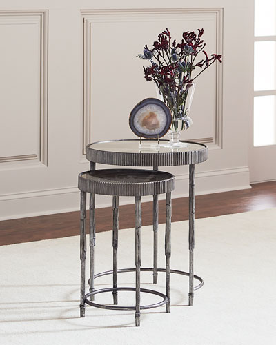 Textured Nesting Accent Tables