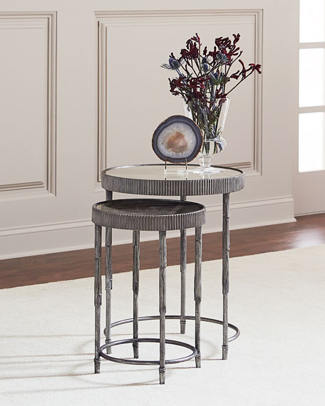 Mark Antiqued Mirrored Nesting Tables
