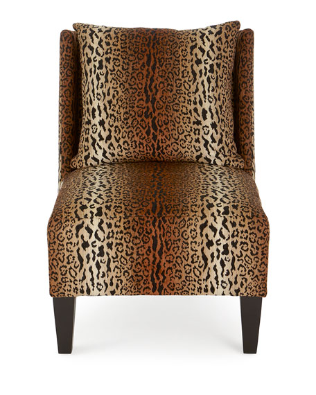 Asher Cheetah Slipper Chair