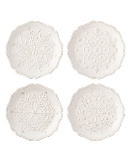 Berry & Thread Snowfall Party Plates, Set of 4