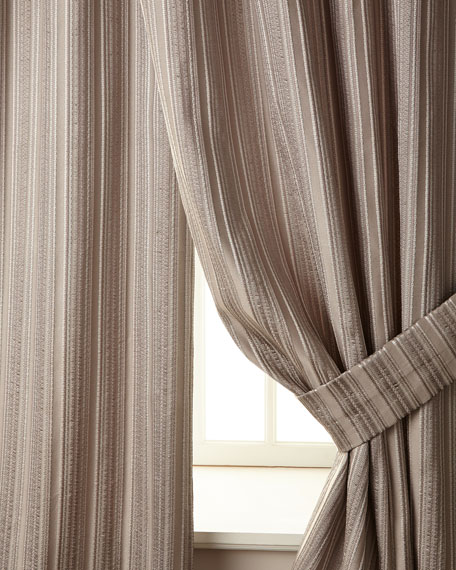 "Two 108""L Prestige Stripe Curtains"