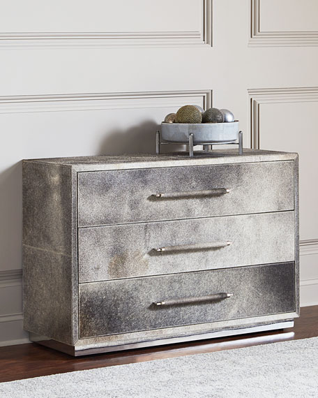 Baxter Hairhide Three-Drawer Chest