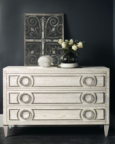 Damonica Oak 3-Drawer Chest