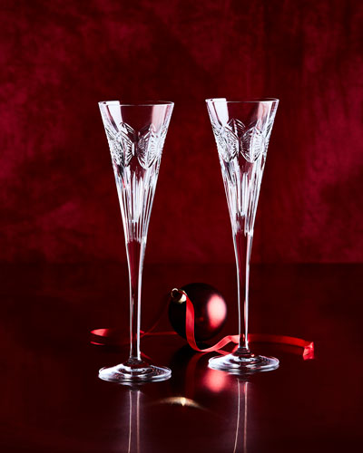 Times Square Serenity Champagne Flutes, Set of 2
