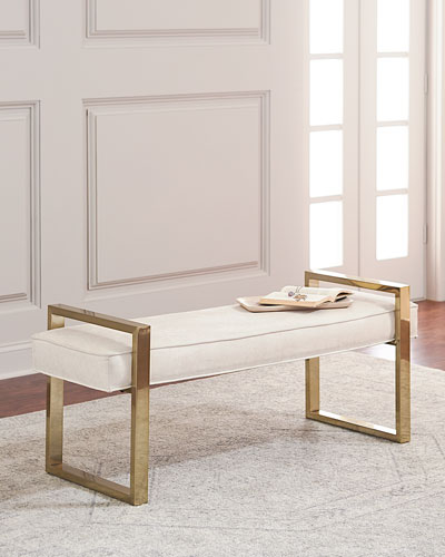 Nia Brass Framed Bench