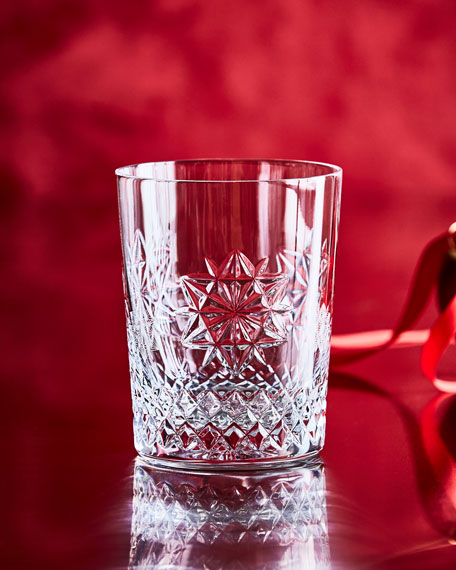 Snowflake Wishes Friendship Double Old-Fashioned, Clear
