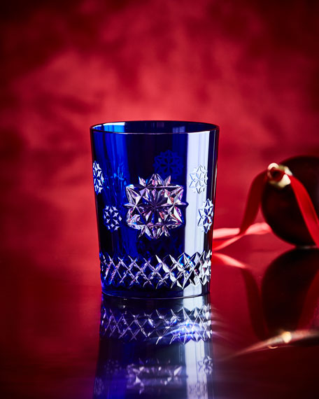 Snowflake Wishes Friendship Double Old-Fashioned, Cobalt