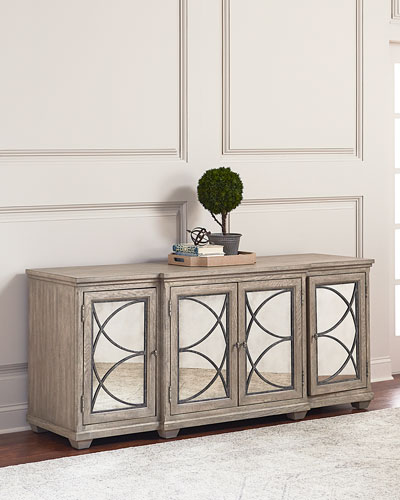 Marisala Mirrored Entertainment Console