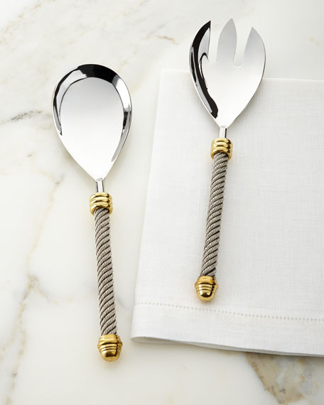 Two-Piece Cable Salad Server Set