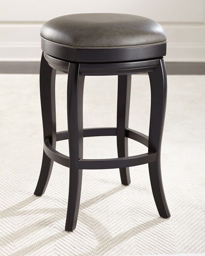 Adalia Leather Counter Stool