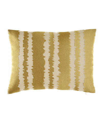 Santorini Gold Embroidered Pillow