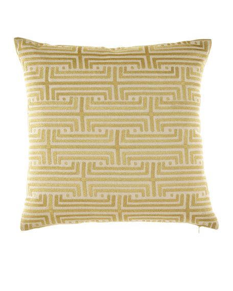 Labryinth Gold Embroidered Pillow