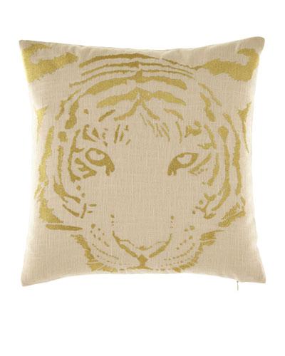 TIGER EMBORIDERED PILLOW 16X