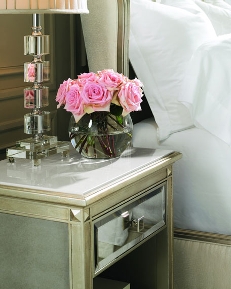 Emilee Antiqued Mirrored Night Stand