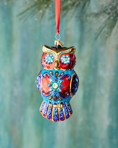 Ornate Owl Christmas Ornament