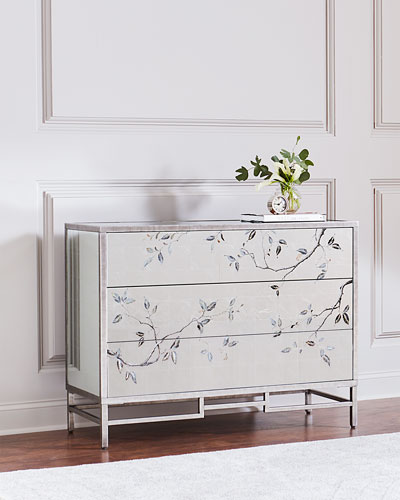 Francene Eglomise Three-Drawer Chest