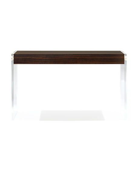 Welsh Acrylic and Wood Console Table