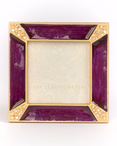 Jay Strongwater Leland Pave Corner Square Picture Frame,