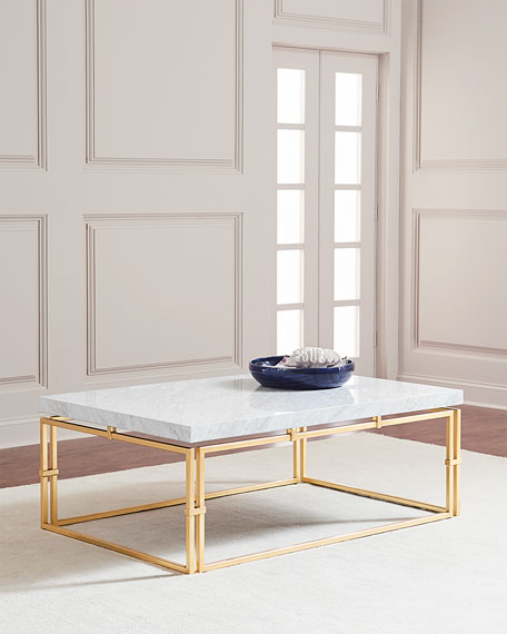 John Richard Collection Calabria Marble Top Coffee Table