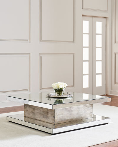 Parson Eglomise Square Coffee Table
