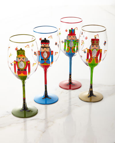 Nutcracker Glasses  Set of 4