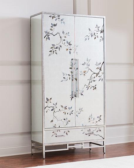 Framura Eglomise Tall Cabinet