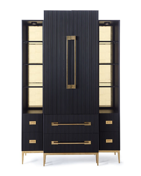 Ebony Satin Tall Cabinet