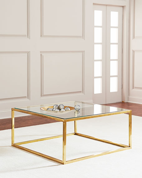 Winstar Brass and Glass Coffee Table
