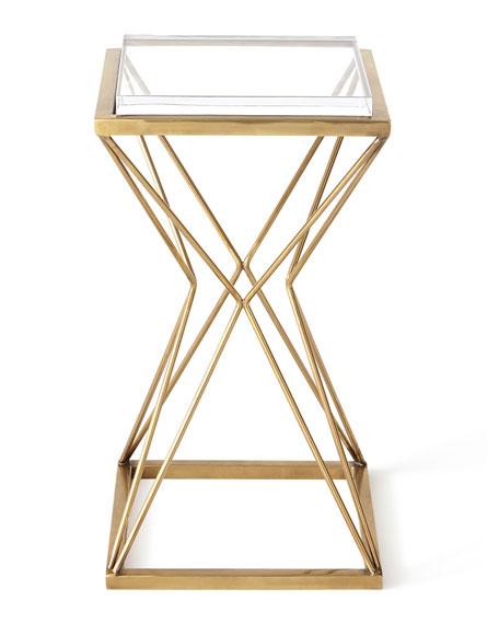 Geometric Brass Side Table
