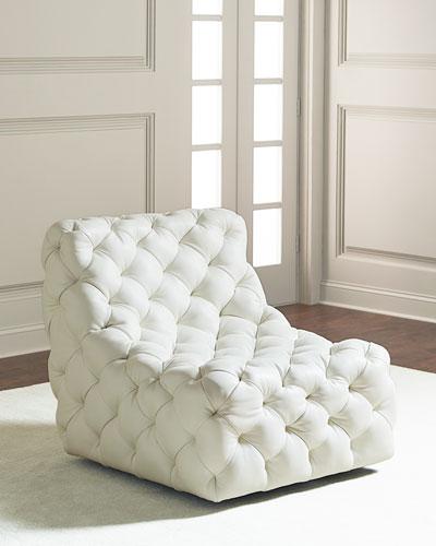 Dunaway Tufted Swivel Chair