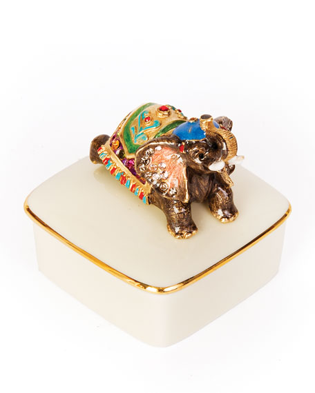 Elephant Porcelain Box