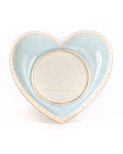 Chantal Heart Picture Frame  Blue