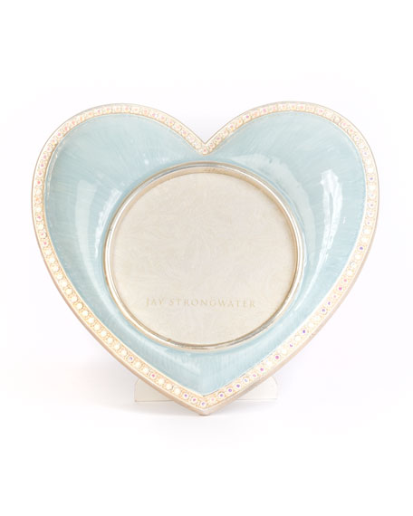 Chantal Heart Picture Frame, Blue