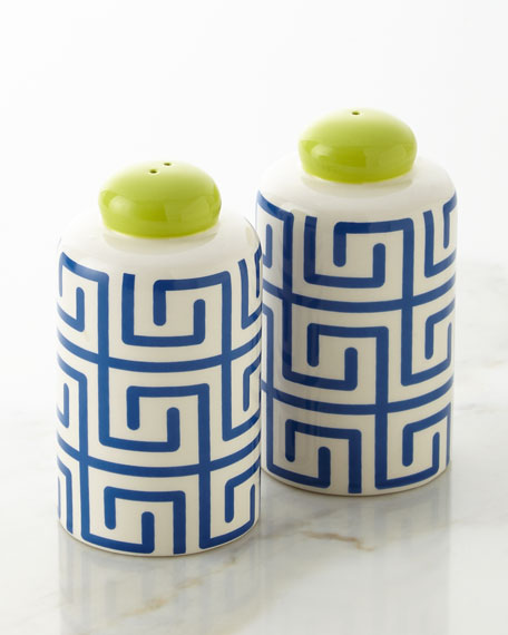 Fret Column Salt & Pepper Shakers