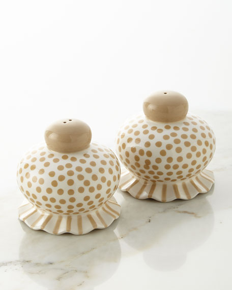 Small-Dot Ruffle Salt & Pepper Shaker Set