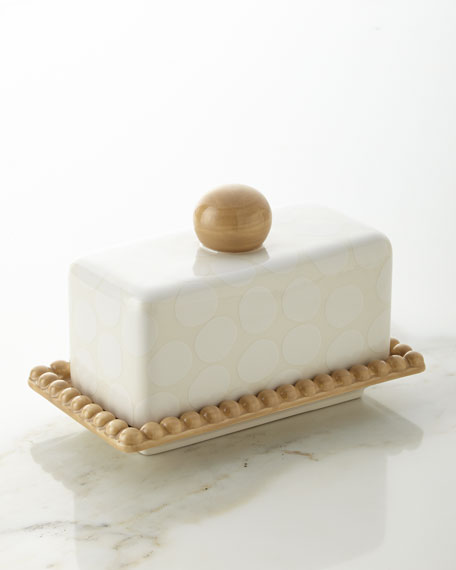 Pebble Beaded Butter Dish
