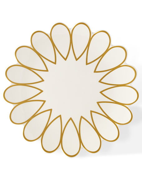 Scallop Edge Salad Plate, Set of 4