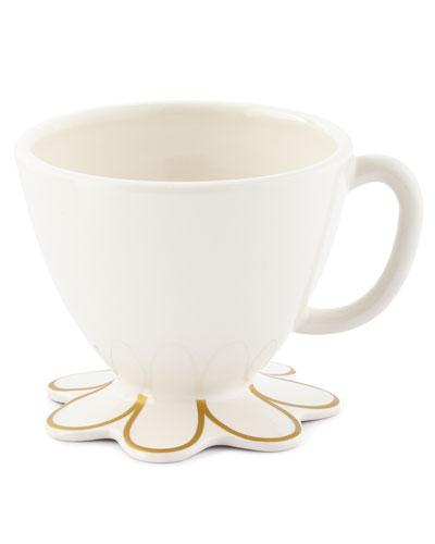 Scallop Mugs, Set of 4