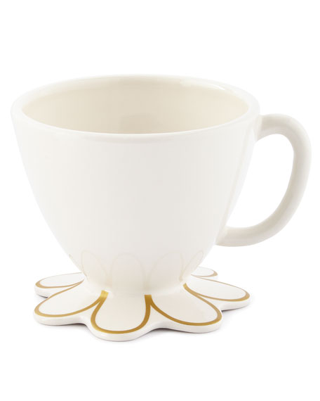 Scallop Mugs, Set of 4